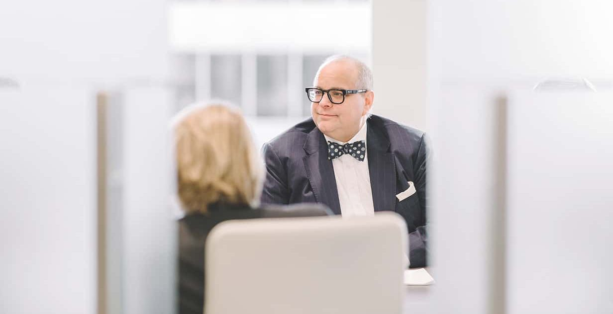 Lawyer wearing a bow tie on casual Friday