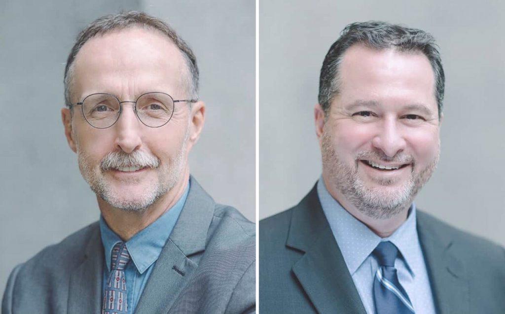 Headshots of Craig Neville and Jonathan Lazar as presenters at 2019 ADRBC Symposium